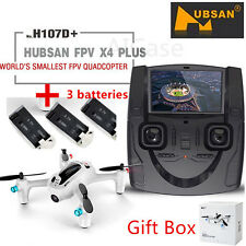 HUBSAN FPV X4 H107D+ Plus 2.4G 4CH RC Quadcopter Drone 2MP HD Camera+3 Battery