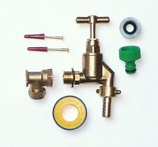 Heavy Duty Outside Tap Kit  With Wall Plate Elbow & Garden Hose Fitting