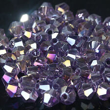 #5301 fashion DIY jewelry 3mm Glass Crystal Bicone bead 1000pcs Violet AB