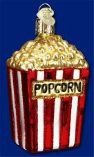 BOX OF POPCORN OLD WORLD CHRISTMAS GLASS MOVIE CARNIVAL FOOD ORNAMENT NWT 32074