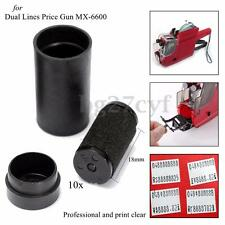 10pcs Refill Ink Rolls Ink Labeller Cartridge 18mm for MX-6600 Price Tag Gun