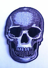 Realistic Skull Dead Biker Horror Goth Punk Embroidered Iron On / Sew On Patches