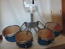 Marching Band Quad Tenors Drums with Carrier and New Heads