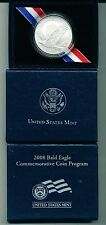 2008-P BU BALD EAGLE COMMEMORATIVE SILVER DOLLAR IN ORIGINAL MINT BOX