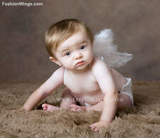 White marabou feather angel wings 0-6mo infant newborn baby props poster frame