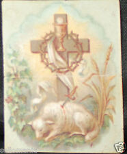 OLD FIRST COMMUNION REMEMBRANCE HOLY CARD ANDACHTSBILD SANTINI SEE MY SHOP C763