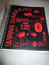 1993 and 1994 Harley Davidson Wiring Diagrams/Electrical Troubleshooting Guide