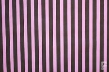 FUNKY 12 mm STRIPES ON PRINTED POLY COTTON FABRIC  - WIDTH 114 CM
