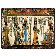 PP0796 Egyptian Painting Chic Plate Sign Home Store Shop Restaurant Cafe Decor