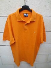 Polo SERGE BLANCO Quinze 15 rugby shirt orange L manches courtes