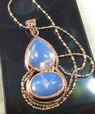 New Sri Lanka Moonstone Gourd Pendant AAA gold-plated 17""