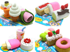 IWAKO Japanese Eraser Mix-Picked 12 Pieces - Wagashi , Cakes , Ice Cream - Japan