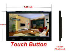 7'' Ultra Thin HD 800x480 TFT LCD Color Audio HDMI VGA Car Rear View Monitor