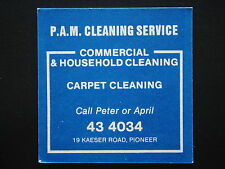 P.A.M. CLEANING SERVICE 19 KAESER PIONEER 434034 EASTERN SUBURBS BOWLS COASTER