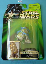 "Star Wars 2002 R3-T7 Sneak Preview POTJ 3.75""  Figure Mint On Card!"