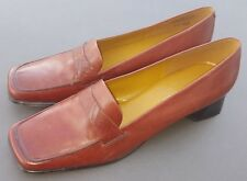 Enzo Angiolini Brown Leather Pumps Work Shoes Marcille Size 9.5 N