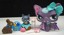 LITTLEST PET SHOP CUTE PURPLE VAMPIRE BAT NO# MOM & BABY EASTER ACCESSORIES