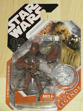 Star Wars Saga Legends 30th Anniversary Ep III Chewbacca w/Bowcaster & Coin NOSC