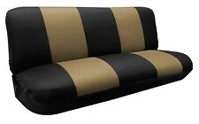 Mesh Knit Polyester Black Tan Seat Cover FULL SIZE BENCH For Classic F-Series