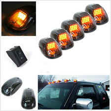 5 Pcs 12V Smoked Lens Car Cab Roof LED Amber Marker Running Lights & Accessories