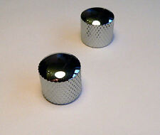 Chrome tone & volume domed knob set for Fender Telecaster and other Tele guitars