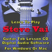 STEVE VAI Guitar Tab Lesson CD Software - 156 Songs