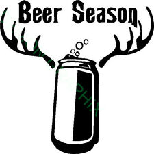 Beer Season vinyl decal/sticker hunting/funny drink cowboy hunter archery deer