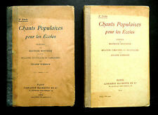 2 CHANTS POPULAIRES POUR LES ECOLES - M.BOUCHOR -J. TIERSOT -Ed HACHETTE 1902-07