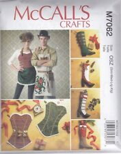 McCALL'S SEWING PATTERN CRAFT APRONS & STOCKINGS  Size OSZ M7062
