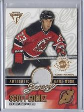 SCOTT GOMEZ NEW JERSEY DEVILS 2002-03 TITANIUM PRIVATE STOCK PATCH 005/256 #39