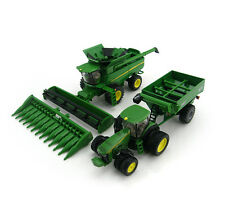 NEW John Deere Harvesting Set (S680 Combine, Tractor & Grain Cart 1/64 (45443)