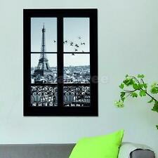 3D Eiffel Tower Scene Outside Window Home Room Wall Sticker Decal Wallpaper
