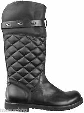 CESARE PACIOTTI SHEARLING QUILTED LEATHER BOOTS US 9 ITALIAN MENS SHOES