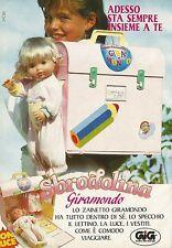 X4279 Sbrodolina e Zainetto Giramondo - GIG - Pubblicità 1991 - Advertising