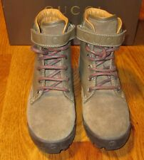 New Authentic Gucci Suede Trento Lace-up Boys / Kids Boots 271338 Sz EU 32 New