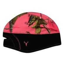 HOT SHOT REALTREE PINK CAMO LADIES STRATOS STOCKING HAT BEANIE w/ PONYTAIL HOLE
