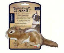 AMERICAN CLASSIC SMALL PLUSH CHIPMUNK DOG TOY w/SQUEAKER, Safe and Durable