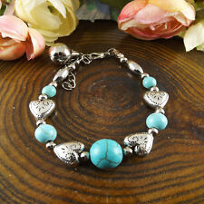 NEW Free shipping Jewelry Tibet silver jade turquoise bead DIY bracelet S279