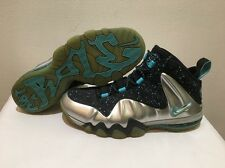 Nike Barkley Posite Max Basketball Metallic Silver/Gamma Blue 555097-040 Sz 11