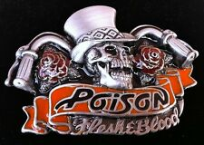 Skull Rose Chopper Biker Poison Rock Belt Buckle Boucle de Ceinture