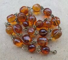 Genuine Baltic Amber Old necklace beads Rare Round natural vintage 32 g.