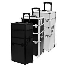 Pick Rolling 2in1 Artist Aluminum Train Lockable Box Case Organizer CHOOSE COLOR