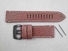 Genuine Luminox 26mm Field Valjoux Chrono 1867 brown buffalo leather watch band