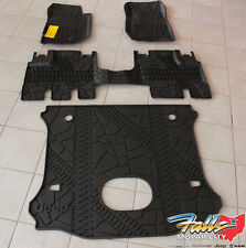 2014-2017 Jeep Wrangler Unlimited Complete All Weather Floor Mat Set Mopar OEM