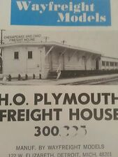 1973 Wayfreight Models HO Scale Plymouth Freight House NOS Train Chesapeake