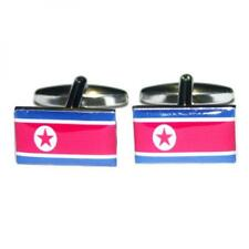 North Korea DPRK Flag Cufflinks Korean Formal Wedding Party Present Gift Box