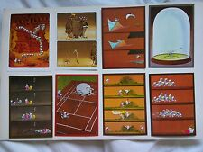 8 cartes postales MORDILLO / VERLAG tendance MARRON