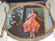 """Edwin M. Knowles China Co. """"Standing In The Doorway"""" Collector Plate w/ COA"""