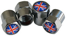 Union Jack tire tyre valve caps set of four - Look good on your British car