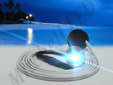 "SUPER BLUE LED BOAT DRAIN PLUG LIGHT 1100 LUMEN GARBOARD UNDERWATER 1/2"" NPT,"